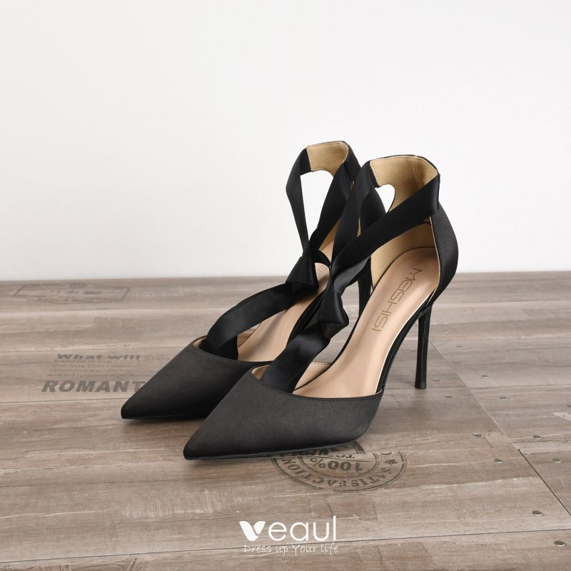 Simple Black Evening Party High Heels