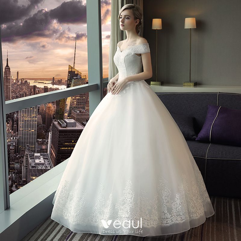 Simple Wedding Dress 2017 Bridal Gown Sexy Backless: Affordable Modest / Simple Church Wedding Dresses 2017