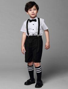 Jongens Wit Shirt Met Zwarte Broek Kinderen Pakken 4 Sets