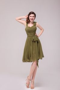 2015 Green Sleeveless straps Bridesmaid Dress