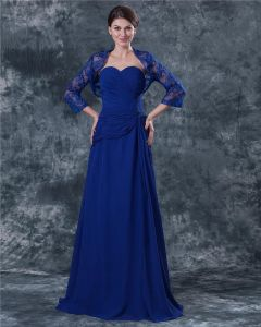 Sweetheart Floor Length Lace Chiffon Mothers of Bride Special Guests Dress