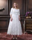 Lace V Neck Plus Size Bridal Gown Wedding Dresses