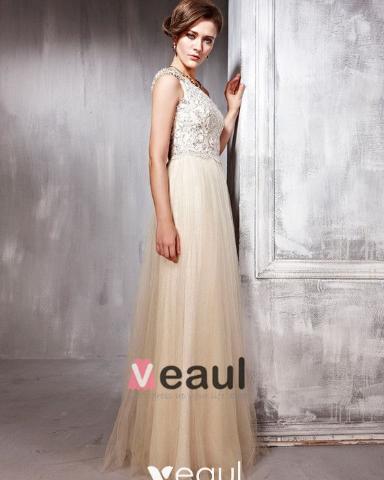 Diamond Tulle Charmeuse Beading Pleated One Shoulder Floor Length Evening Dresses
