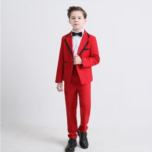 Black Tie Red Boys Wedding Suits 2019