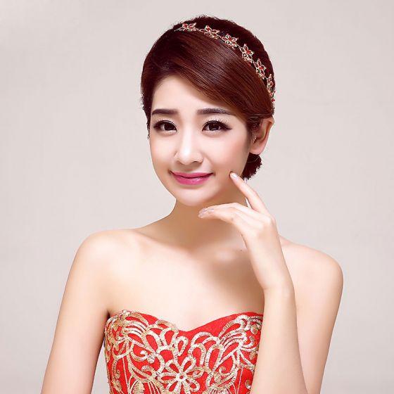 Red Butterfly Rhinestone Bridal Headpiece /Head Flower / Wedding Hair Accessories / Wedding Jewelry