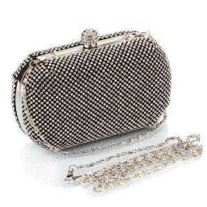 Mode Zilveren Rhinestone Handtassen 2020 Metaal Avond Accessoires