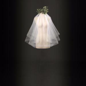 Verzending binnen 24 uur Bruidssluier Witte Tule 2017 Klassieke