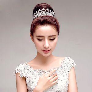Elegante Brude Smykker Rhinestone Bryllup Tiara Bryllup Tilbehør