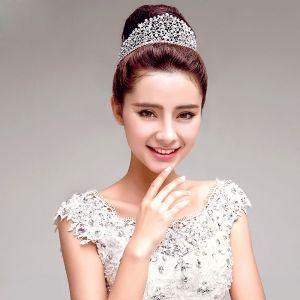 silver wedding crown tiara