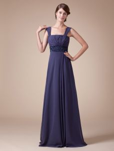 2015 Classic Empire Straps Pleated Beading Sash Long Evening Dresses
