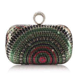 Sparkly Multi-Colors Sequins Square Clutch Bags 2020