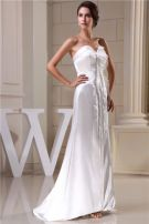 2015 Unique A-line Sweetheart Sweep Train Wedding Dress Simple Bridal Gown