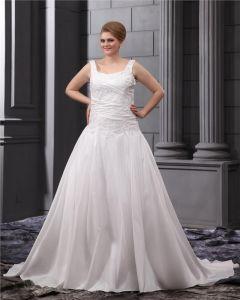 Satinapplique Rundhals Platz Große Größen Brautkleider Hochzeitskleid