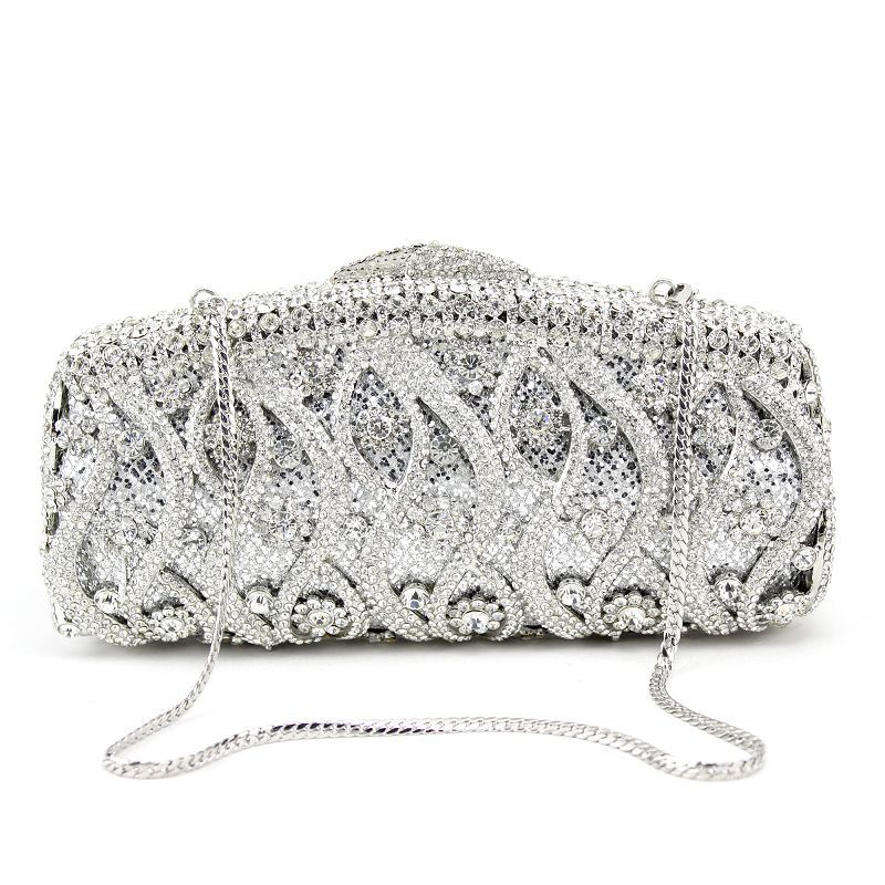 Luxury Gorgeous Silver Clutch Bags