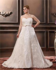 Satinapplique Schatz Große Größen Brautkleider