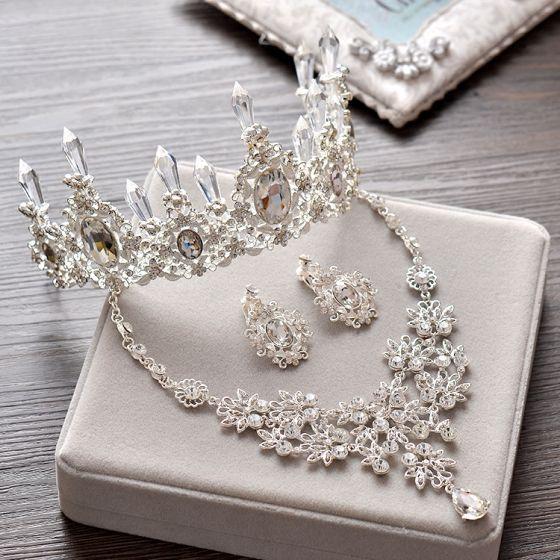 Silver Kristall Tiara Glittrande 2017 Brudsmycken