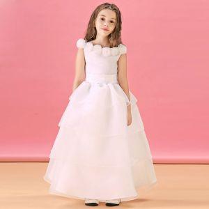 Langen Absatz Blumenmädchen-kleid Prinzessin Kleid Kommunionkleider