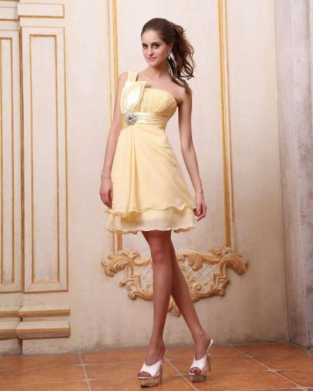 Colmena Elegante Vestido De Cóctel Hasta La Rodilla De Un Hombro
