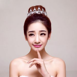 Elegant luxury Big particle Rhinestone Bridal Jewellery Wedding Tiara Hair Accessories