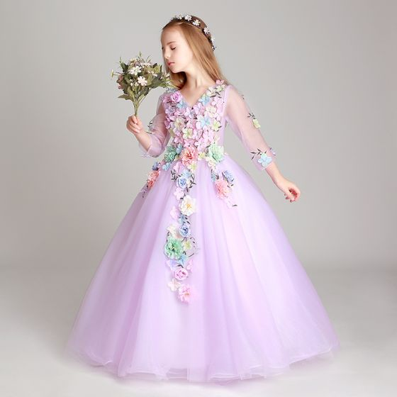 Vestidos largos de flores para nina
