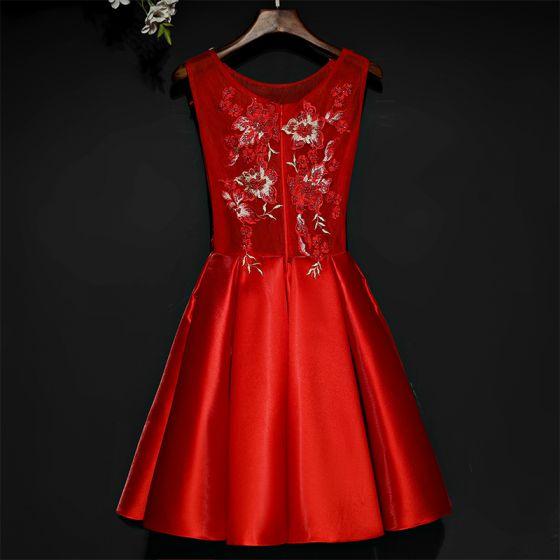 schöne rot festliche kleider abendkleider 2017 mit spitze