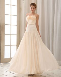 Stylish Floor Length Beading Beading Chiffon Prom Dresses