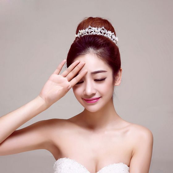Circulaire Mode Bruids Kroon / Head Bloem / Bruiloft Haar Accessoires / Bruiloft Sieraden