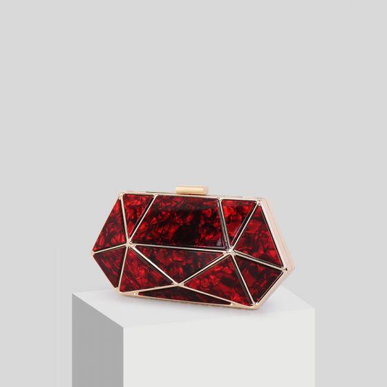Mode Rød Akryl Clutch Taske 2019