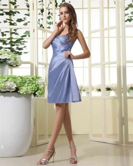 huge selection of 95cc8 aaa4a Stylish Taft Sweetbeart Ausschnitt Knielange Brautjungfernkleider  Trauzeugin Kleid