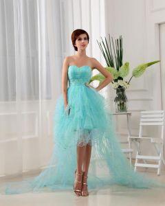 Vestido De Novia De La Longitud Del Piso De Tulle Que Rebordea El Satén De Seda De Mujer Cóctel De Baile