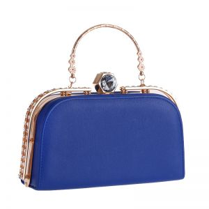 Chic / Beautiful Royal Blue Rhinestone Metal Clutch Bags 2018