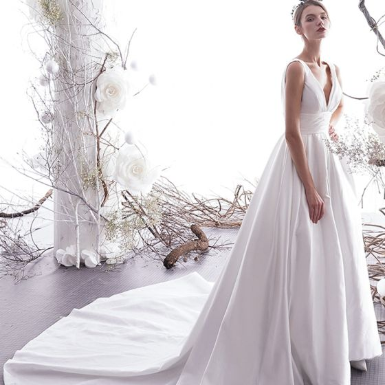 modest-simple-ivory-wedding-dresses-2019-a-line-princess-v-neck-sleeveless- backless-cathedral-train-560x560.jpg df458c1b5737