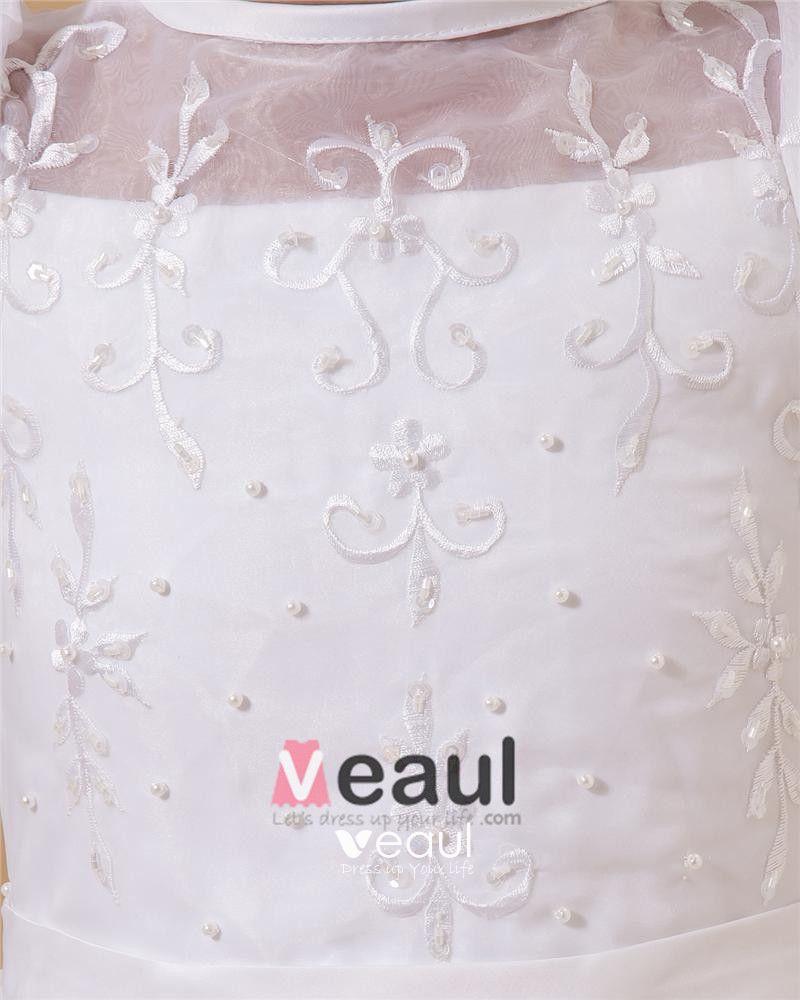 Cute Spaghetti Straps Ankle-Length Taffeta Yarn A-Line Flower Girls' Dress