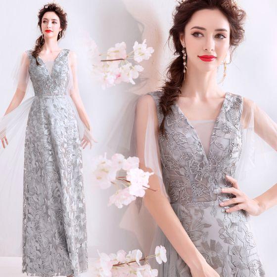 38553c4f21 chic-beautiful-grey-evening-dresses-2019-a-line-princess-v-neck -beading-crystal-lace-flower-sleeveless-backless-floor-length-long-formal- dresses-560x560.jpg
