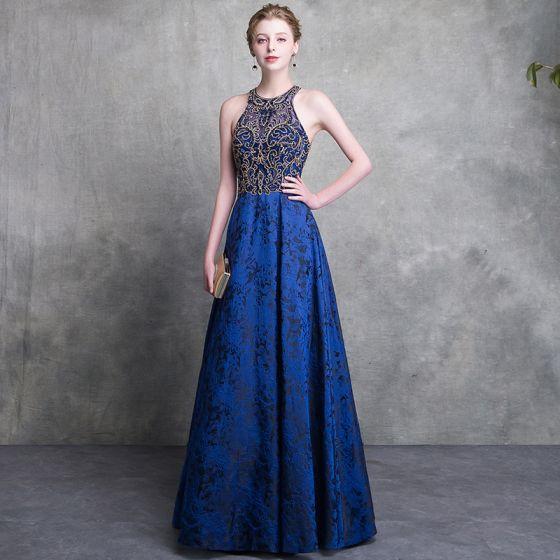 Abendkleider blau spitze