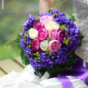 Cadeau Fleur Poignet Fleurs De Soie Imulation Fleur Hortensia Bouquet De Mariée Tenant Des Fleurs De Mariage