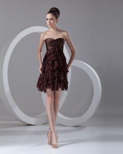 Sweetheart Layered Mini Chiffon Little Black Party Dress