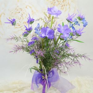 Style Naturel Soie De Simulation Fleurs Artificielles Bleu-violet De Petits Bouquet De Mariée Floraux Tenant Des Fleurs Fleurs De Mariage