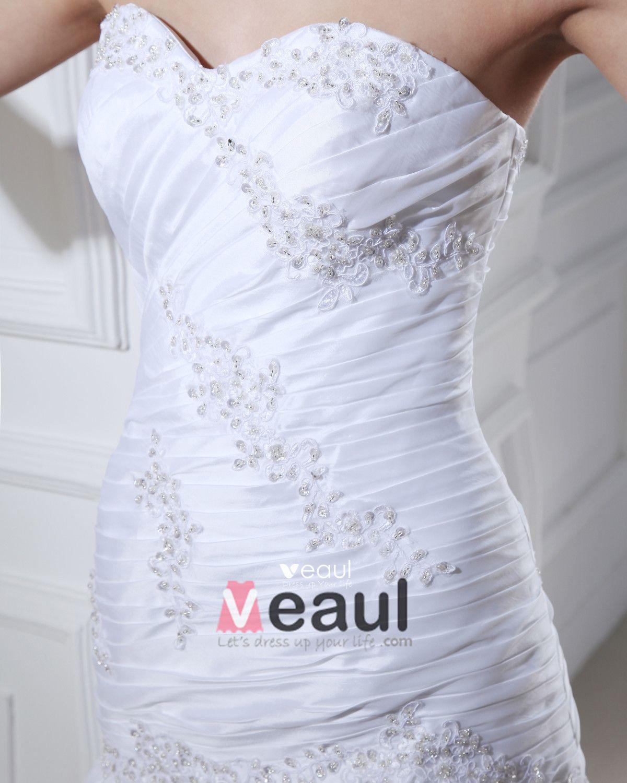 Taffeta Applique Beading Sweetheart Short Bridal Gown Wedding Dress