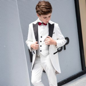 Ivory Tailcoat / Tuxedo Boys Wedding Suits Bow Tie 2019