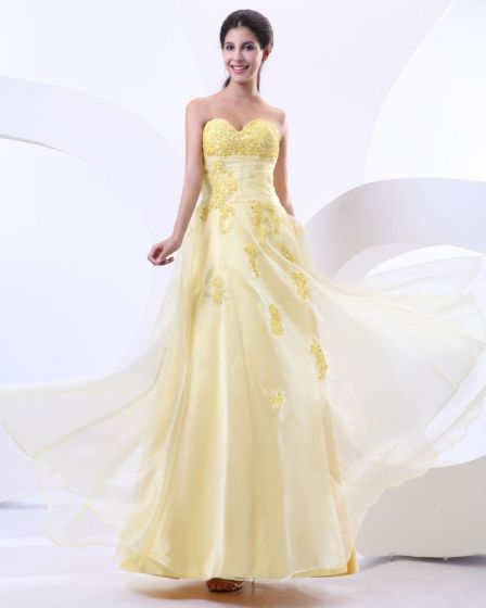 longitud del vestido del gala piso abalorios apliques maravillosa