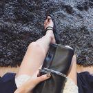 Elegant 2017 Pearl Pink Champagne Black Silver Leaf PU Beach Casual Outdoor / Garden Clutch Bags