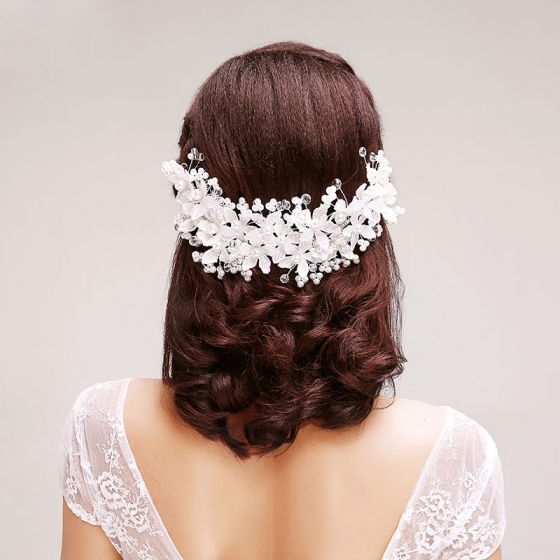 Lace Rhinestone Flowers Pearl The Bridal Headpieces /Head Flower / Wedding Hair Accessories / Wedding Jewelry