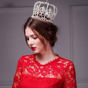 Feine Handgefertigte Diamant-übertrieben Große Größen Krone