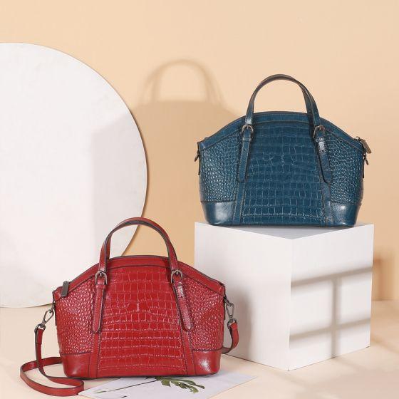 Mode Schultertaschen Umhängetasche Handtasche 2021 Krokodilmuster Leder Freizeit Damentaschen