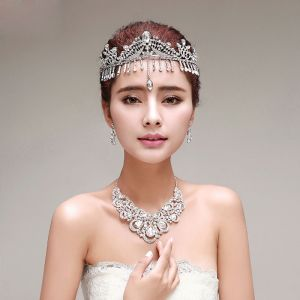 Tassel Bridal Jewellery Tiara / Earrings / Necklace Three-piece