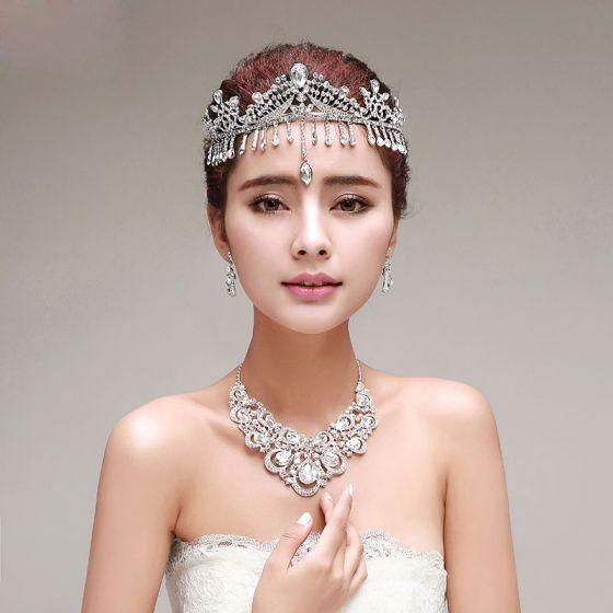 Tassel Bridal Jewellery Tiara / Earrings / Necklace Three-piece