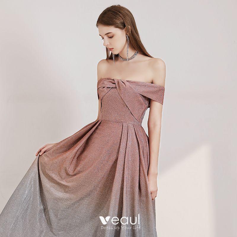 Schöne Pearl Rosa Farbverlauf Grau Abendkleider 2020 A ...