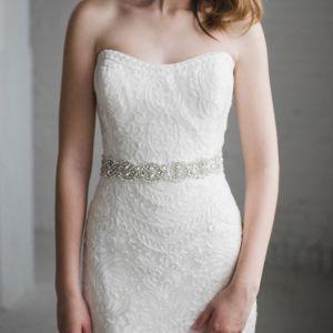 Mode Ivory Bryllup Skærf  2020 Satin Metal Beading Krystal Perle Rhinestone Bryllups Galla Accessories