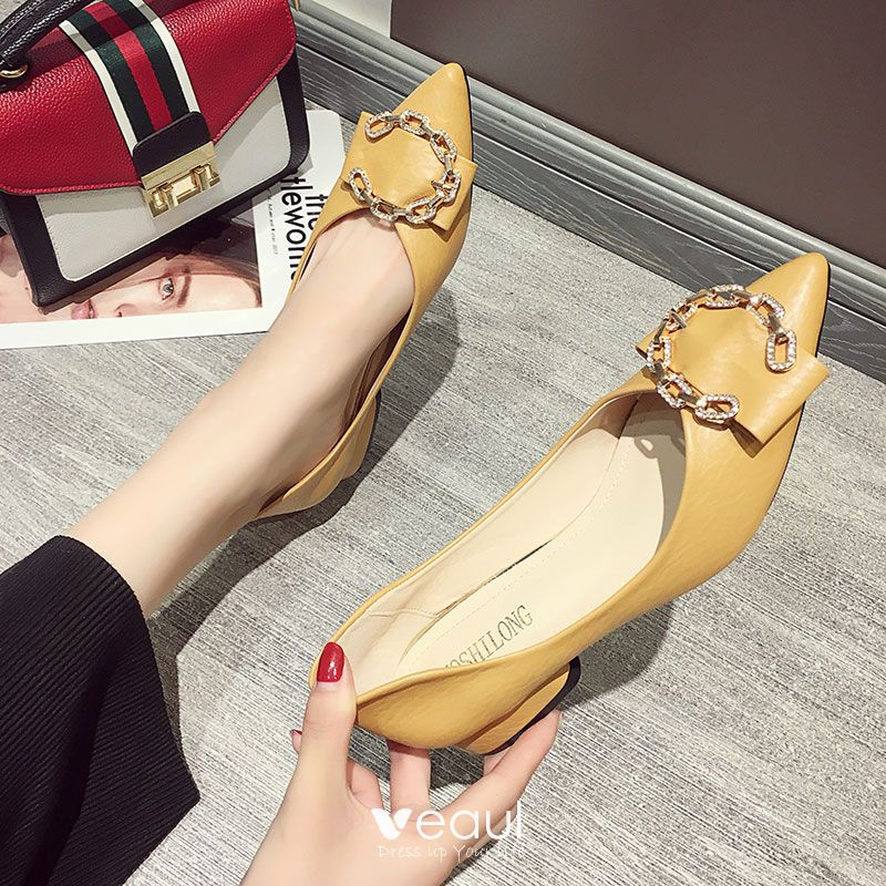 cm Thick Heels Low Heel Pointed Toe